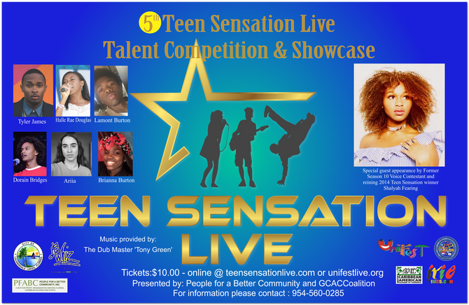 2018 Teen Sensation Live Talent Competition (Ages 14–19)