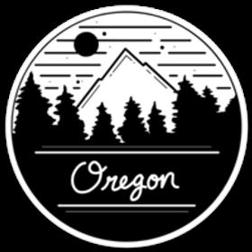 Oregon Mountain Sticker