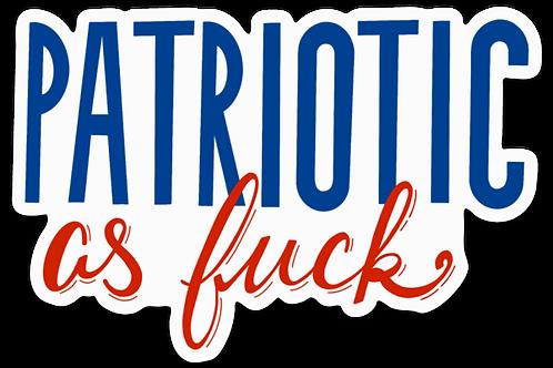 Patriotic AF Sticker