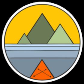 Geometric Kayak Sticker