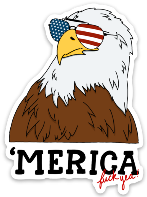 Bald Eagle 'Merica Sticker