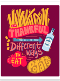 Thankful for Potatoes Sticker