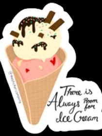 Always Room for Ice Cream Sticker