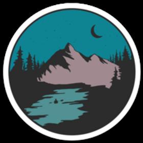 Kayaking in the Mountains Sticker