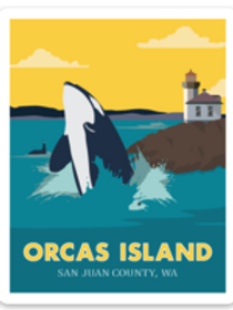 Orcas Island Sticker