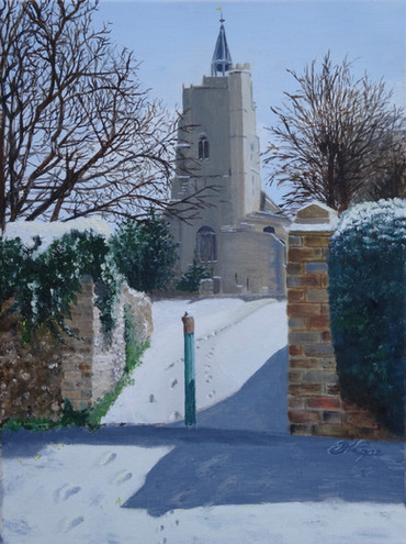 Christmas morning, St. Mary's, Burwell