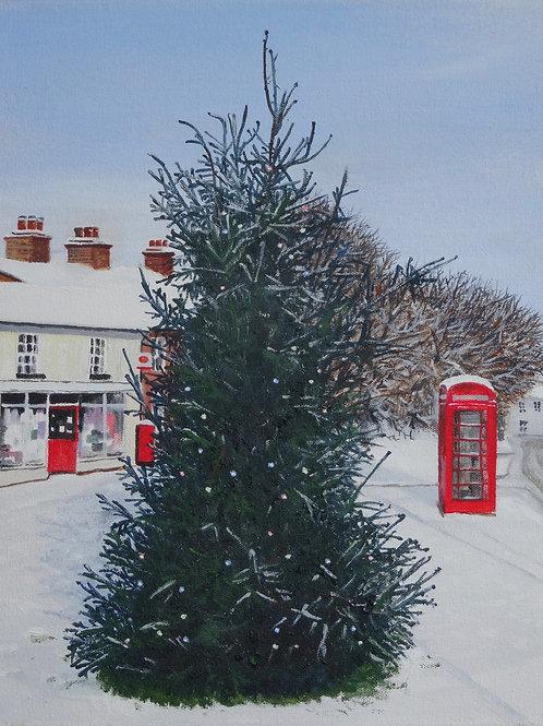 Christmas tree on Pound Hill, Burwell