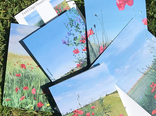 """""""Field Edge Flowers"""" Greeting cards pack"""