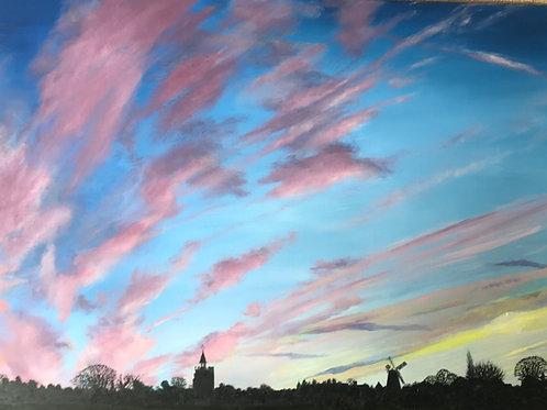 Burwell Skyline at sunset