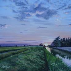 Sunset, Burwell Fen