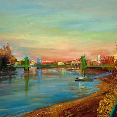 Hammersmith-Bridge-Evening
