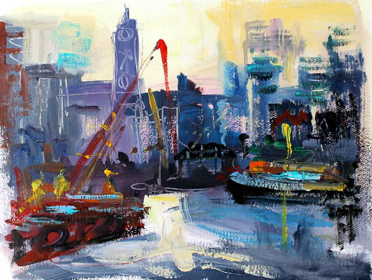 Cranes by Oxo Tower