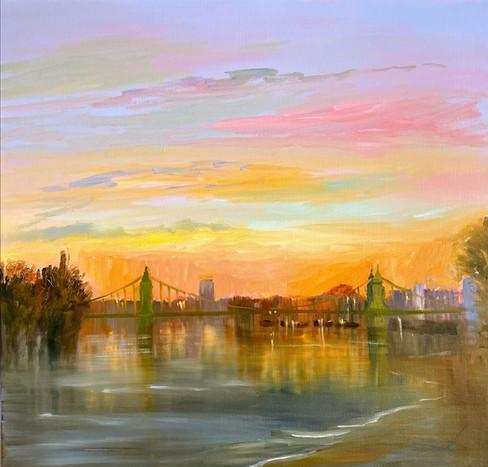 Hammersmith-Bridge-Sunset