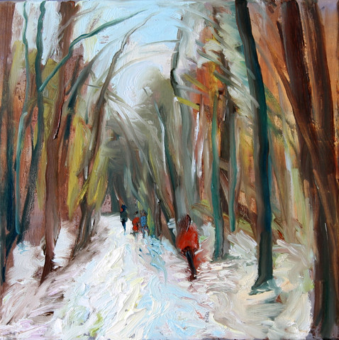 A-Winter's-walk,-Hampstead