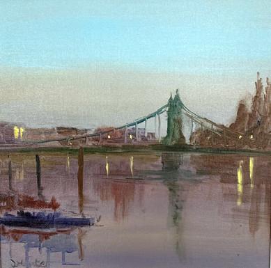 A misty Morning Hammersith Bridge