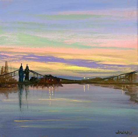 An Evening Sky Hammersmith Bridge