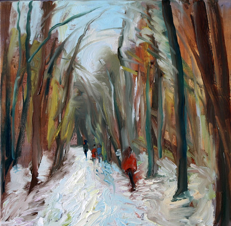 A Winter's Walk Hampstead Heath