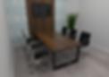 moveis para escritorio - sala de reunião personnalité + painel de parede