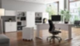 moveis para escritorio linha unisystem