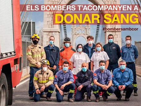 Els Bombers de la Generalitat i el Banc de Sang sumen esforços per aconseguir 5.000 donacions
