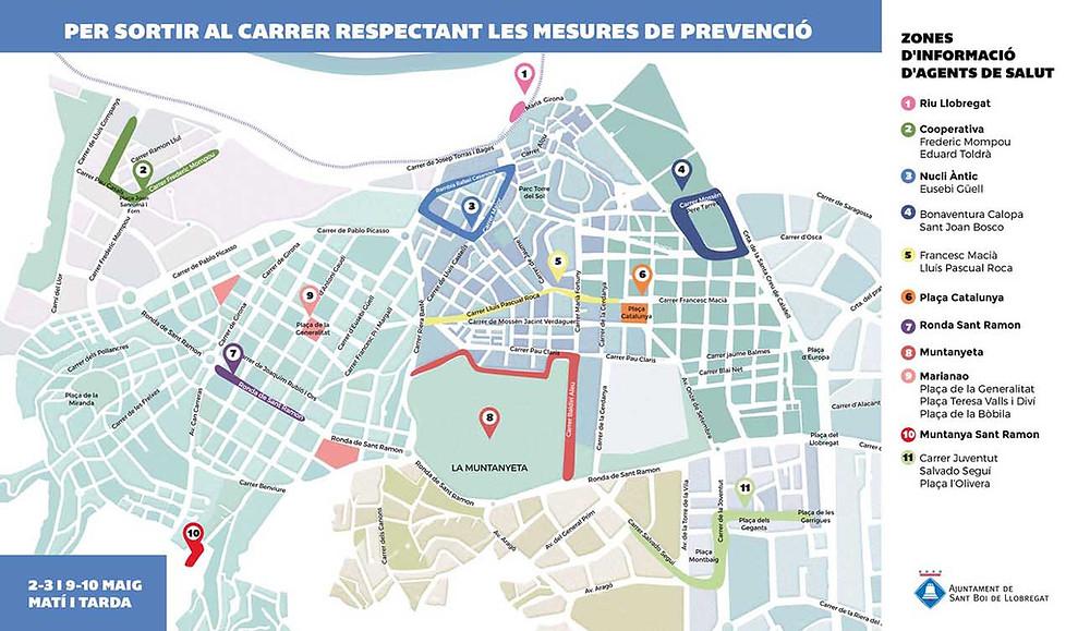 Mapa Sant Boi per passejar de forma segura