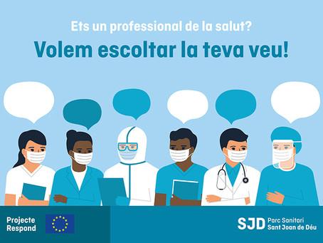 Ets un professional de la salut? Volem escoltar la teva veu! Participa en el projecte Respond