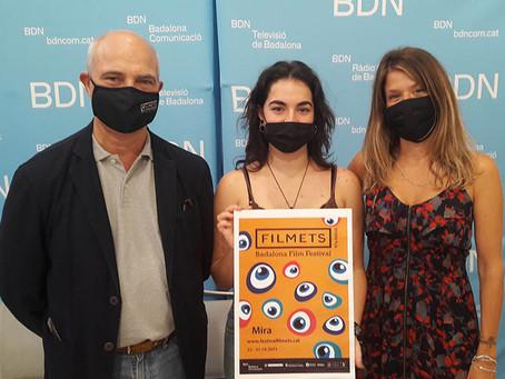 El cartell de la 47a edició de FILMETS és obra d'Alexandra López Tomás de l'Escola Pau Gargallo