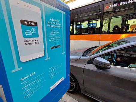 Sant Boi millora la gestió de les zones blaves amb l'app AMB Aparcament Metropolità