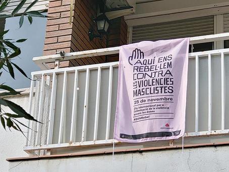 Sant Boi convida a omplir balcons i finestres amb un missatge contra la violència masclista