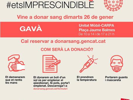 Nueva jornada de donación de sangre en Gavà
