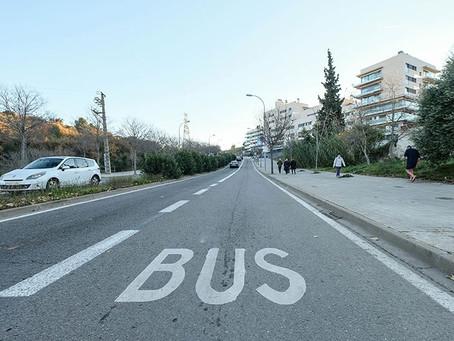El carril bus de la ronda de Sant Ramon se une a la apuesta por una movilidad sostenible en Sant Boi
