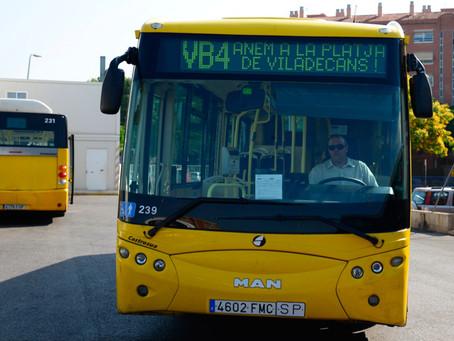 Comença a funcionar a Viladecans el VB4, l'autobús municipal per anar de la ciutat a la platja