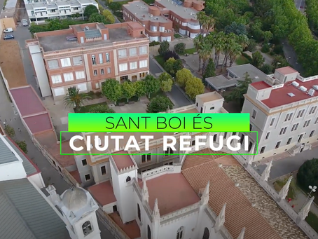 Sant Boi col·labora amb la Fundació Agbar per treballar a favor de les persones refugiades