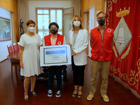 Sant Boi lliura a Creu Roja 3.000 euros per ajudar a les persones afectades pel volcà de la Palma