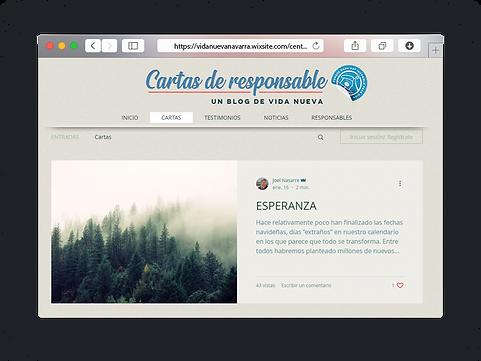Cartas de responsables del centro Vida Nueva en Navarra