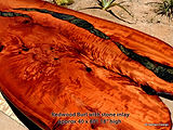 Redwood burl stone inlay Joni Hamari-14.