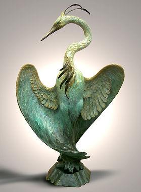 Great Blue Heron bronze Hamari.jpg