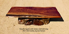 Pomelle Sapele coffee table amber gold i