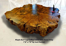 Huge Maple Burl Cap Coffee table Joni Ha