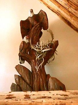 Carved Eagles by Joni Hamari