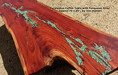 Eucalyptus Turquoise Inlay live edge tab
