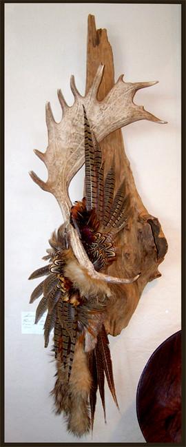 Embellished Fallow deer antler by Joni Hamari