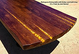 Mahogany dining table Amber Gold inlay J