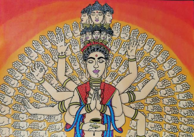 Buddha aux mille mains