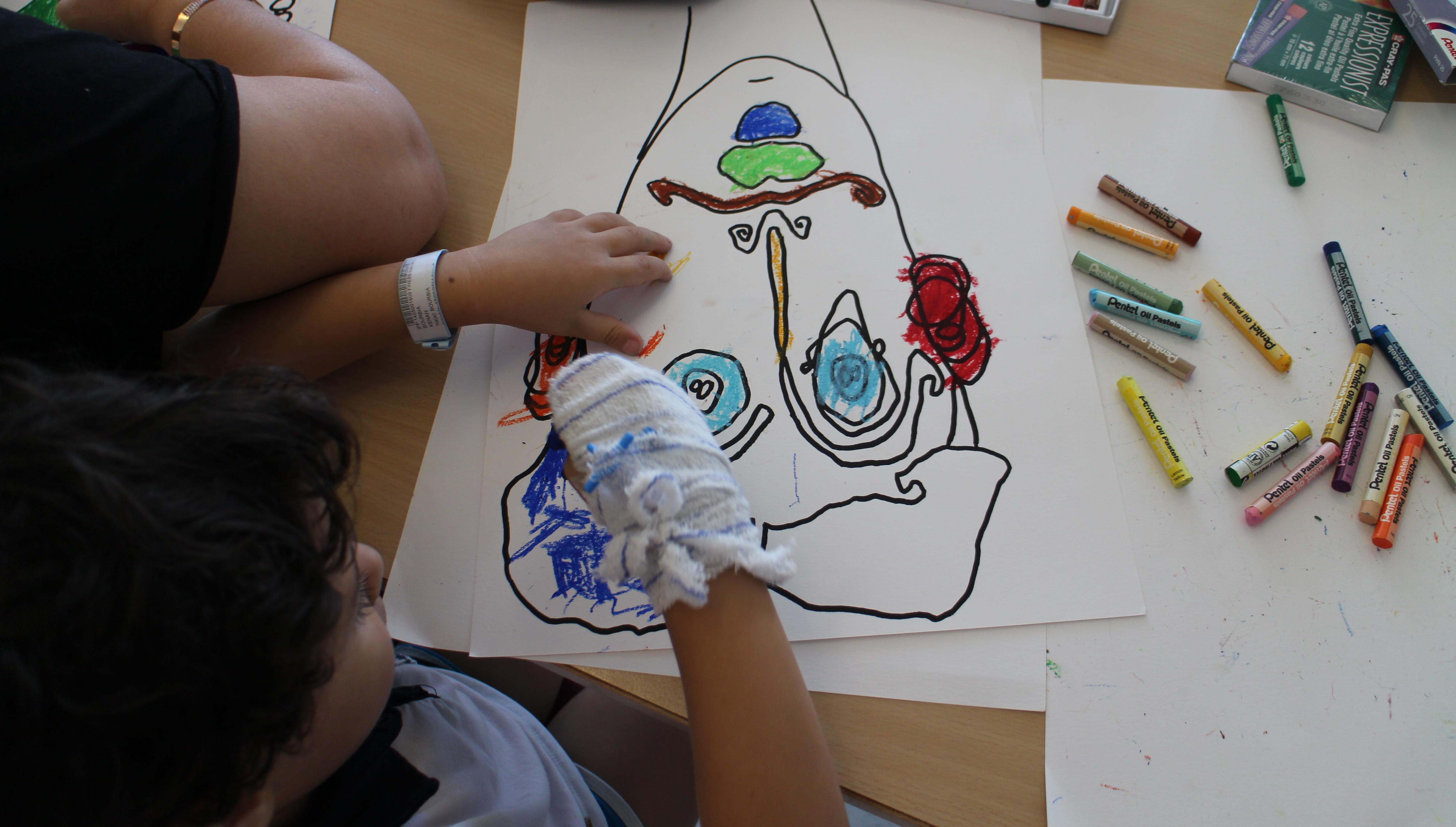 Atelier art plastique à l'hôpital