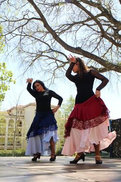 Spectacle de flamenco à l'école élémentaire Lazare Carnot