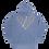 Thumbnail: Rabbit Hole Paisley Hoodie (garment dye blue)