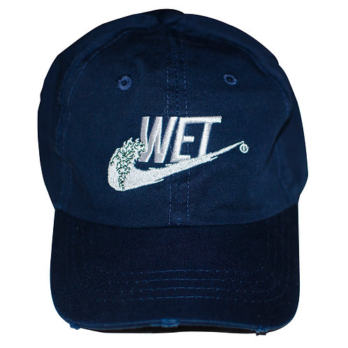 Wet 6 panel unstructured hat