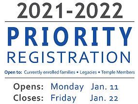 riority Registration SY21-22 Website Gra