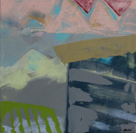 Podvečerní setkání (z cyklu Město), 40x40cm, akryl na plátně, 2016, 320Eur.jpg